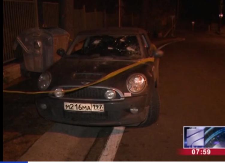 Наавтомобиль российских туристов напали угоры Мтацминда вТбилиси