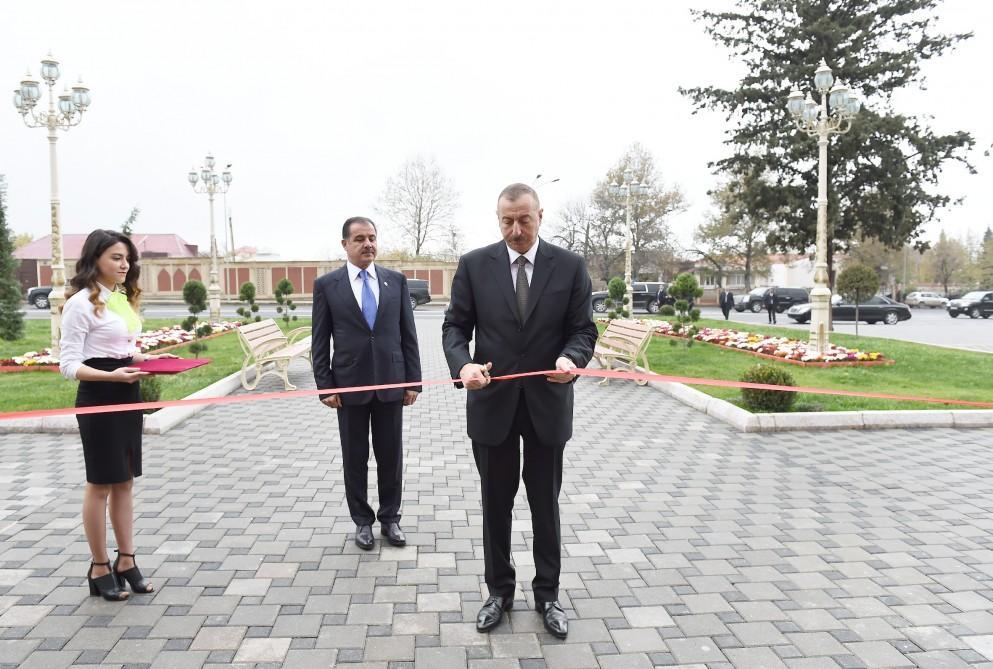 Ильхам Алиев открыл ряд объектов вГяндже