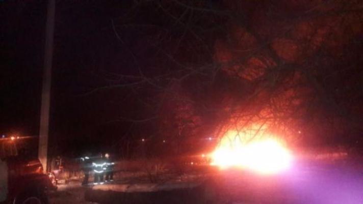 ВКременчуге упал вертолет