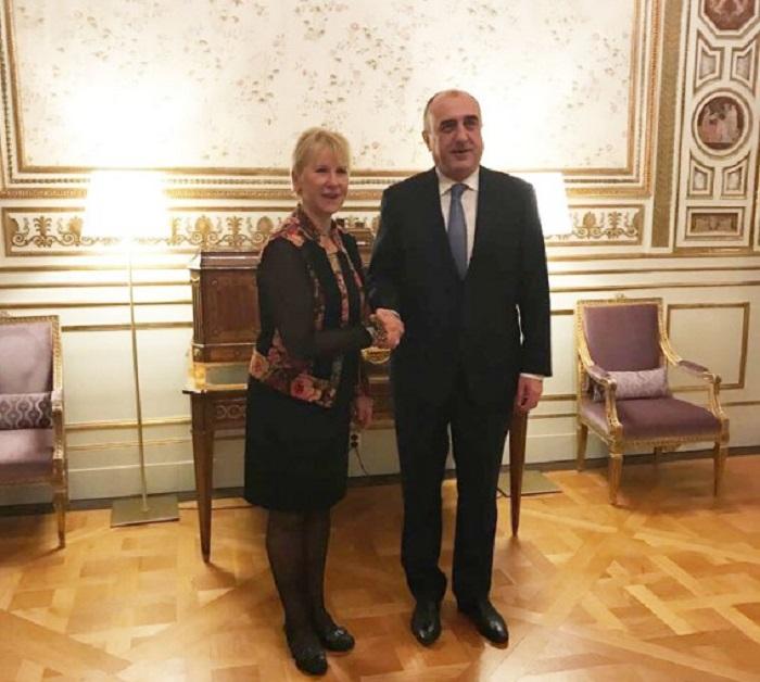 Переговоры Мамедъярова и руководителя МИД Швеции Фото