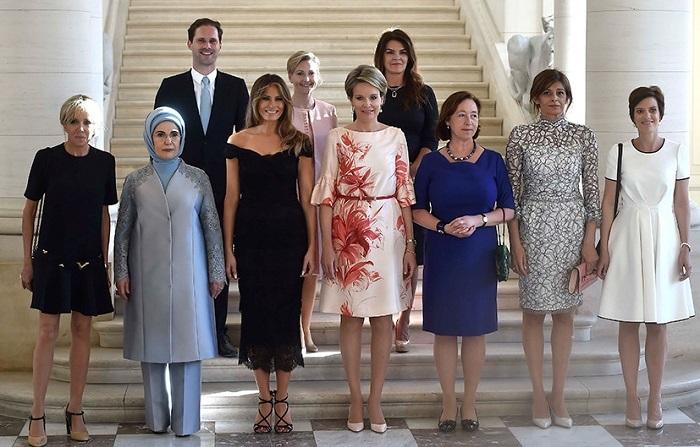 Супруг премьера Люксембурга «засветился» нафото первых леди