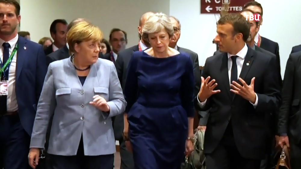 Image result for Тереза Мэй, Меркель и Макрон фото