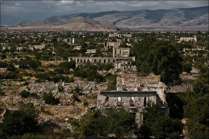 Разрушенный войной Агдам Фото: Соцсети