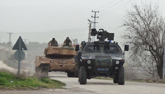 Турецкие военные сказали обударе по«колонне террористов» вАфрине