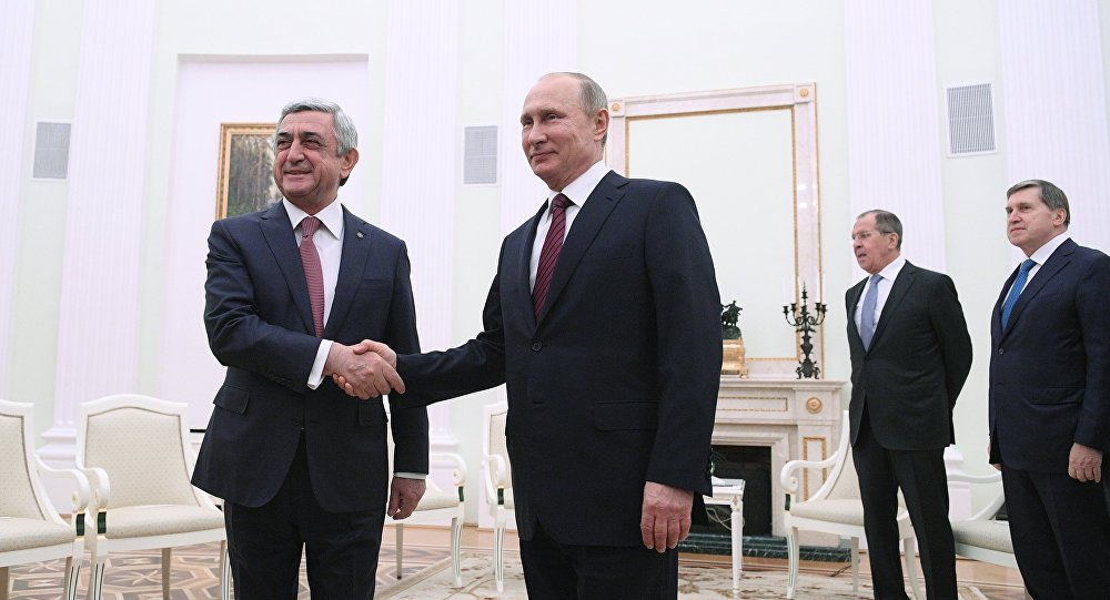 Путину иСаргсяну показали работы Сарьяна вТретьяковской галерее