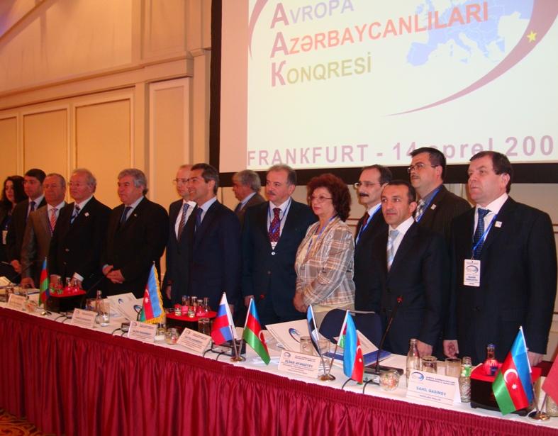 Участники 3 съезда Конгресса азербайджанцев Европы (апрель 2009 года), Франкфурт-на-Майне, Германия