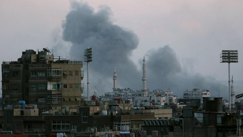 ВВС Сирии наносят удары попозициям боевиков кюгу отДамаска