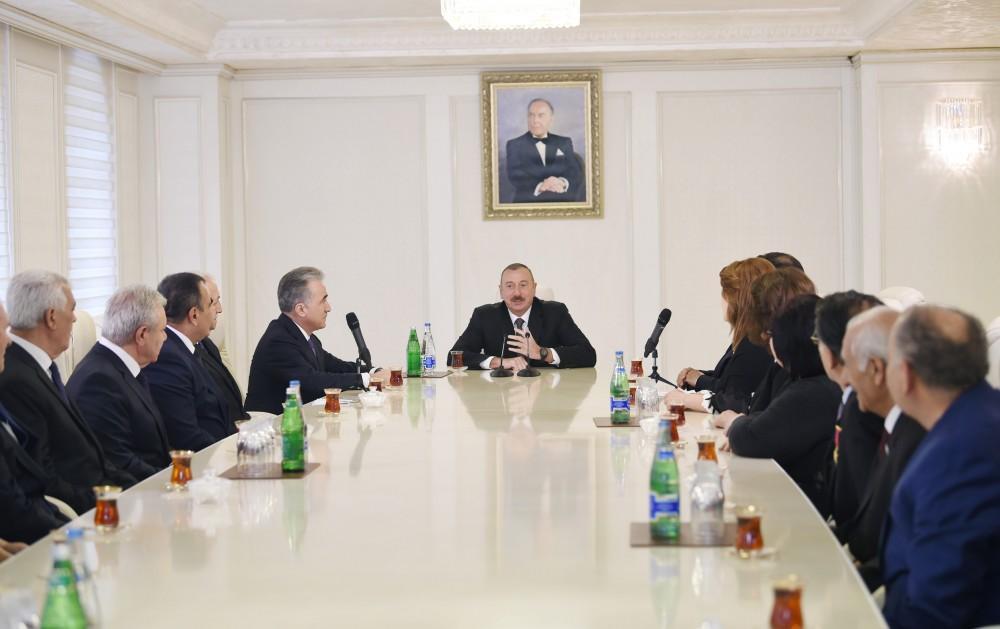 Ильхам Алиев вГяндже