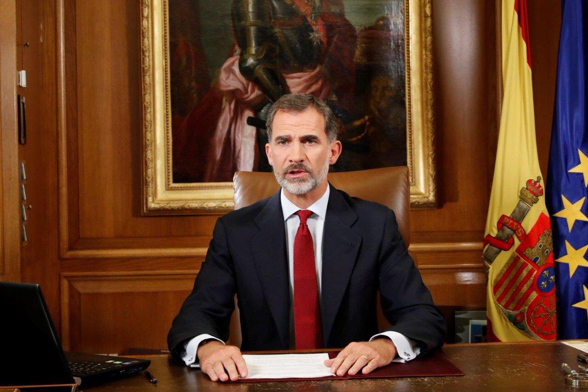 Испанский монарх ФилиппVI непризнал референдум вКаталонии