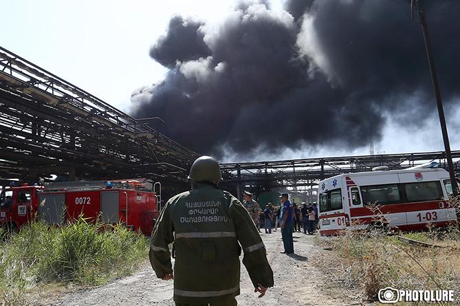 ВЕреване локализован пожар назаводе «Наирит»