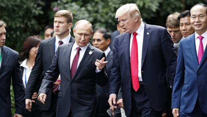 ВКремле сообщили опроработке даты встречи В.Путина иТрампа наG20