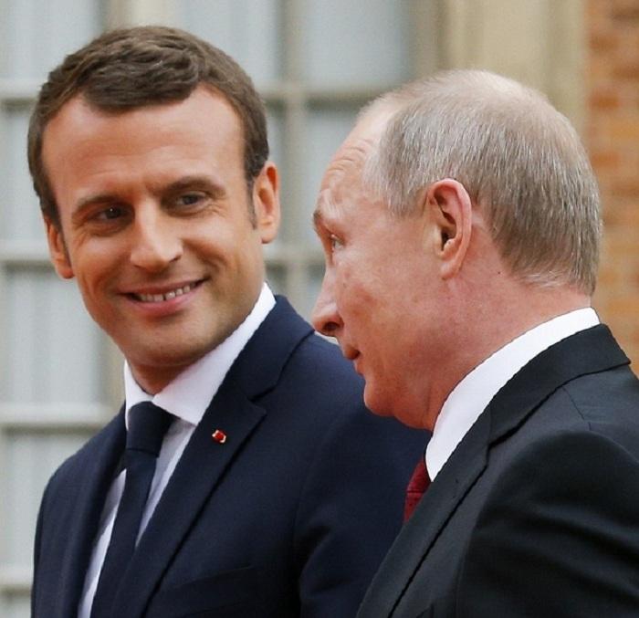 Путин иМакрон обсудили урегулирование конфликта вСирии