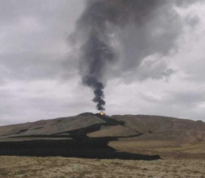 ВАзербайджане случилось  извержение грязевого вулкана Отман-Боздаг