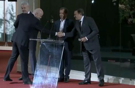 Собянин и Инфантино открыли Международный вещательный центр ЧМ-2018