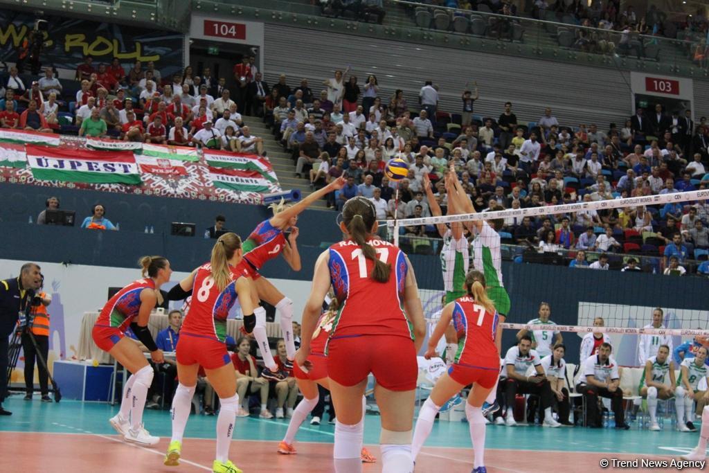 Волейболистки сборной Азербайджана вышли вполуфинал домашнего чемпионата Европы