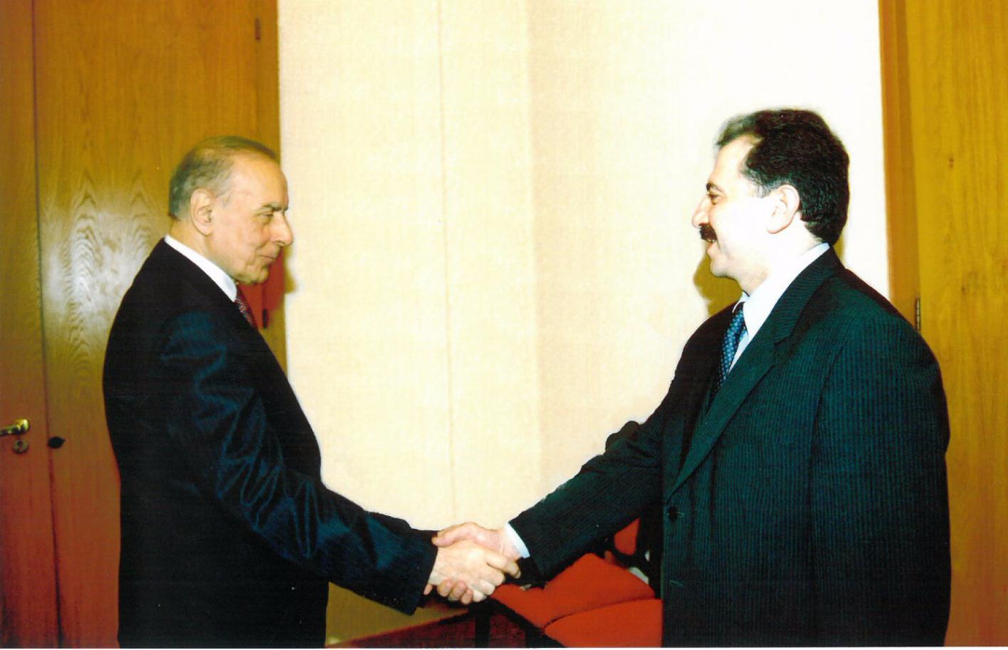 Встреча с Президентом АР Гейдаром Алиевым (март 1999 года)