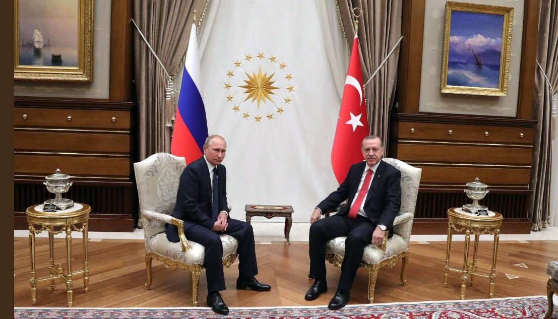 Путин иЭрдоган провели общую  пресс-конференцию