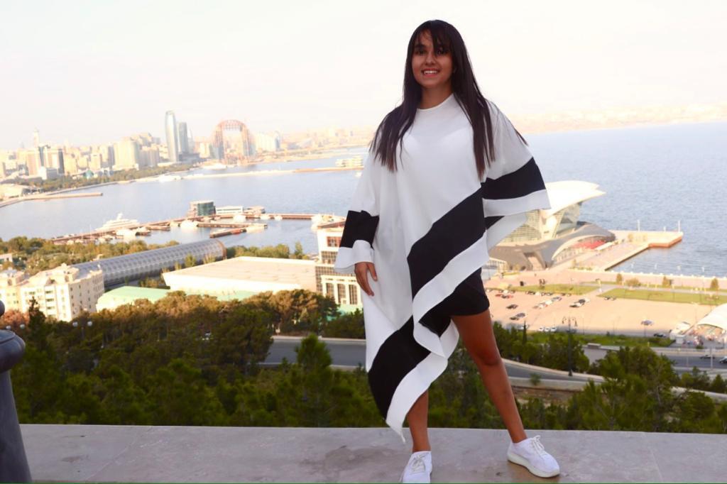 Фото:  Замина Нуруллаева. Участница команды Азербайджан конкурса